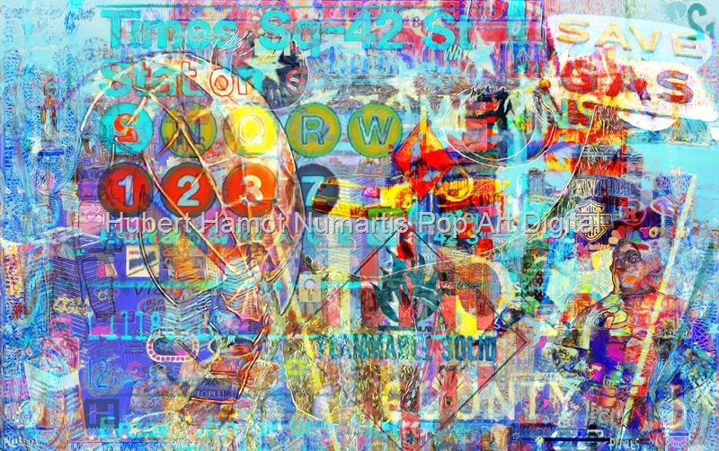 time-sq-42-street Hubert Hamot Numartis Pop Art Digital