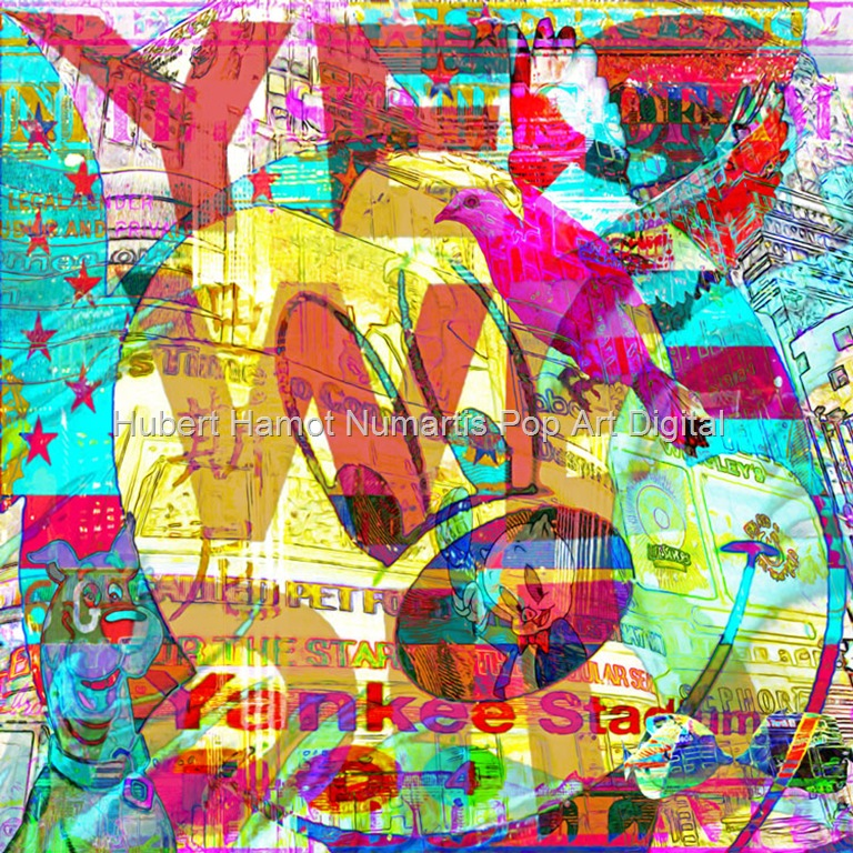 dove-over-yankee-stadium Hubert Hamot Numartis Pop Art Digital