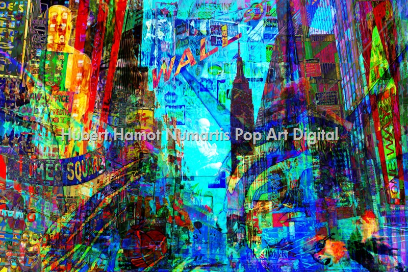 new-york-city Hubert Hamot Numartis Pop Art Digital