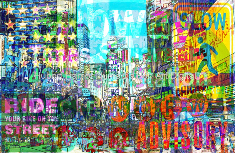 ride-slow-on-42nd-street Hubert Hamot Numartis Pop Art Digital