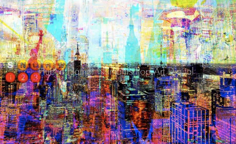 George-in-the-window Hubert Hamot Numartis Pop Art Digital