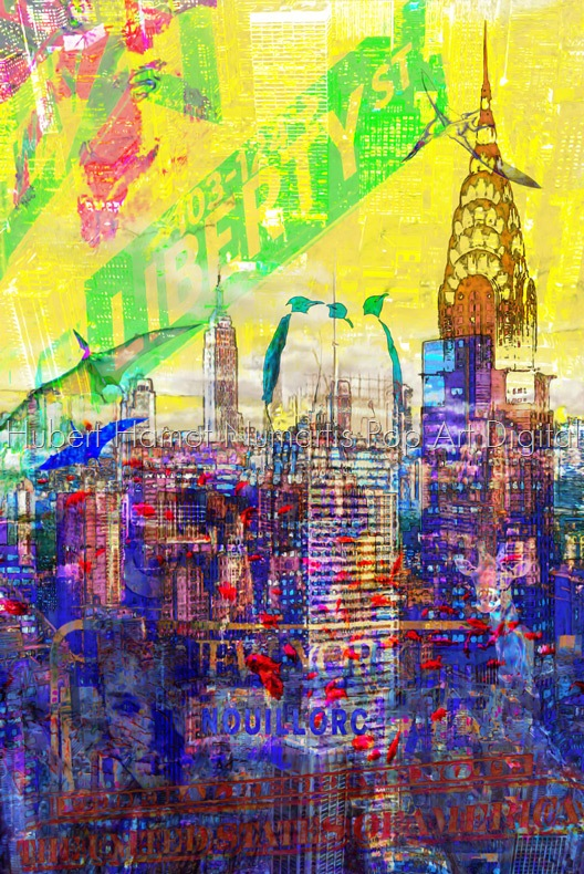 New-york-Nouillorc Hubert Hamot Numartis Pop Art Digital