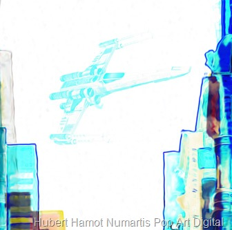 asteroide-crossing5 Hubert Hamot Numartis Pop Art Digital