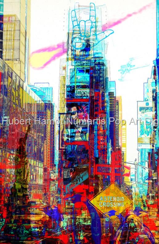 asteroide-crossing Hubert Hamot Numartis Pop Art Digital