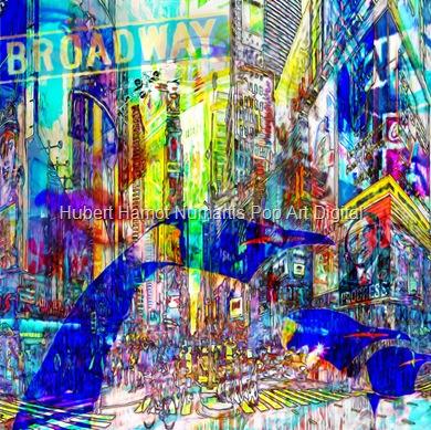 strangers-in-nyc1 Hubert Hamot Numartis Pop Art Digital
