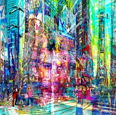 strangers-in-nyc2 Hubert Hamot Numartis Pop Art Digital