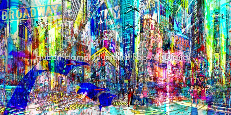 strangers-in-nyc Hubert Hamot Numartis Pop Art Digital