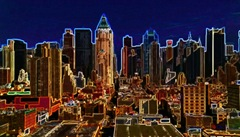 skyline-nyc Hubert Hamot Numartis Pop Art Digital