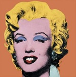 Warhol-Shot-Orange-Marilyn--Hubert Hamot Numartis Pop Art Digital